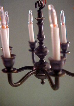 1350-330 1/2&quot; black chandelier