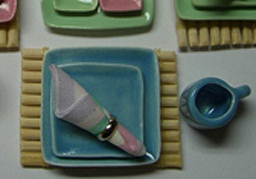 cer127 pastel dinner set