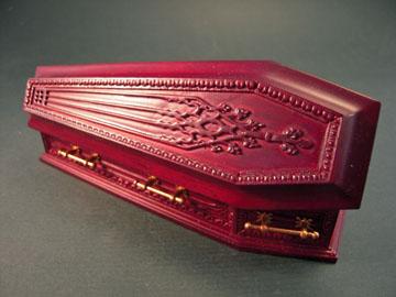 """jk09009b 1"""" mahogany jk coffin"""