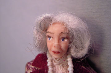 "lk416 1/2"" scale margaret porcelain doll"