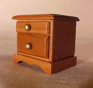 1/2&quot; Scale Nightstand 1 1/16&quot;Wx7/8&quot;Dx1&quot;H