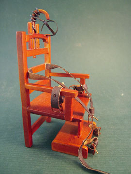 "p6630 1"" scale miniature electric chair"