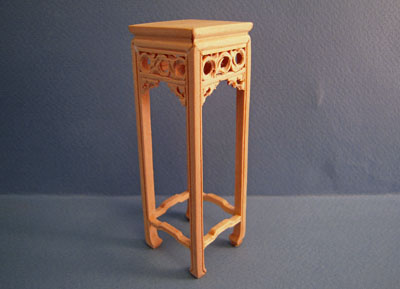 "1"" Scale Bespaq Unfinished Ming Plant Stand"