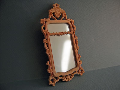 "1"" Scale Bespaq Unfinished Hunt Wall Mirror"