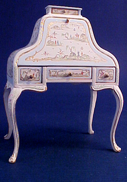 "1"" Scale Bespaq Hand Painted Dauphine Hepplewhite Desk"