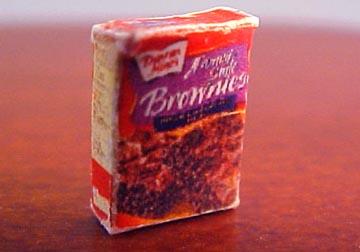 "1/2"" Scale Miniature Box Of Chocolate Brownie Mix"