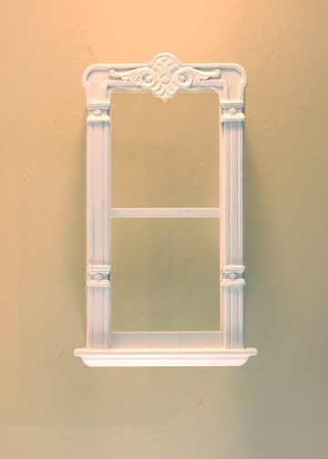 "Majestic Mansions 1"" Scale Miniature Mc Allister Carved Single Window"