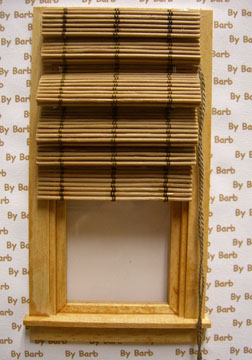 """By Barb 1"""" Scale Hand Crafted Working Bamboo Roman Shade"""