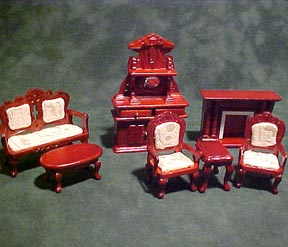 Townsquare Miniatures 1/2 Scale Miniature Victorian Living Room Set 