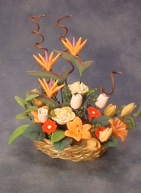 Bright deLights 1&quot; Scale Bird of Paradise in a Basket