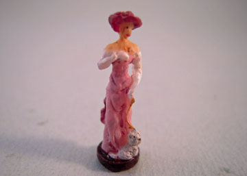 "Falcon 1"" Scale High Fashion Lady In Pink Statue"