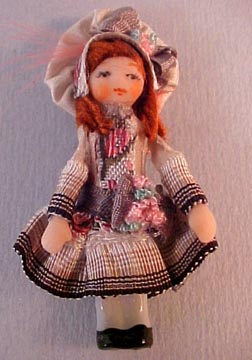 "Ethel Hicks 1"" Scale Mimee Doll"