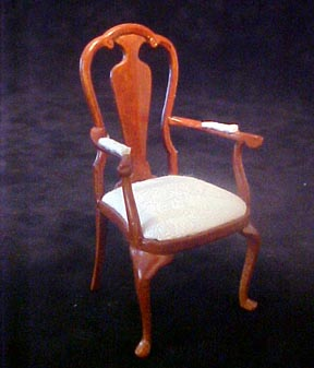 "1"" Scale Bespaq Walnut Dining Chair"