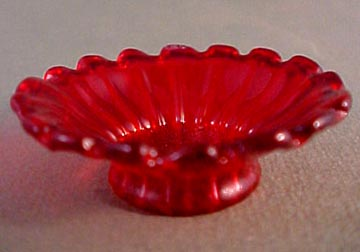 "1"" Scale Scarlet Red Flared Bowl"