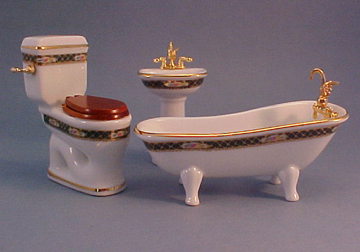 Reutter Irish Rose Porcelain Bath Set