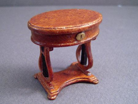 JBM Walnut Victorian Sewing Box 1:24