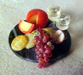 "Falcon 1/2"" Scale Cheese and Crackers on a Marble Tray"