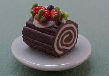 "1/2"" Scale Miniature Chocolate Log Roll"