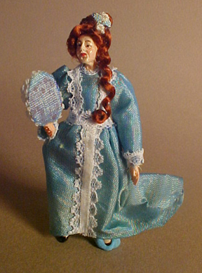"Falcon 1/2"" Scale Marcia Backstrom Lady In Green Doll"