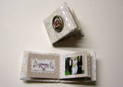 1&quot; Scale Hand Crafted Wedding Album/Scrapbook