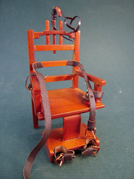 "1"" Scale Walnut Platinum Collection ""Old Sparky"" Electric Chair"