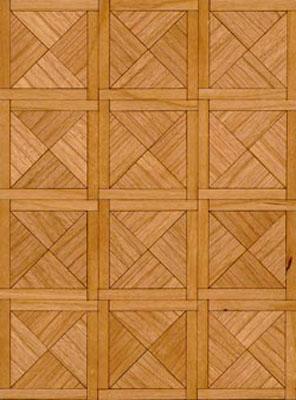 "Brodnax 1/2"" Scale Paris Cherry Parquet Flooring Kit"