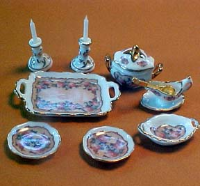 1&quot; Scale Reutter Porcelain Classic Rose Server Set
