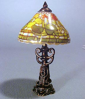 1&quot; Scale Reutter Porcelain Fruit Shade Table Lamp