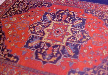 "1/2"" Scale Oriental Medallion Carpet"