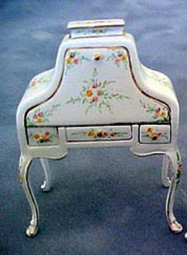 "Bespaq 1/2"" Scale Hand Painted White Hepple White Desk"