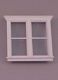 "Majestic Mansions 1/2"" Scale Miniature Atherton Double Window"