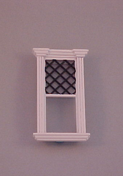 "Majestic Mansions 1"" Scale Miniature Westfield Decorated Single Window"