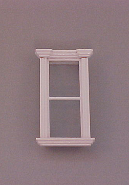 "Majestic Mansions 1/2"" Scale Miniature White Westfield Single Window"