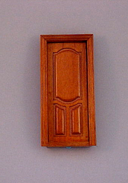 "Majestic Mansions 1/2"" Scale Miniature Walnut Stannford Interior Door"