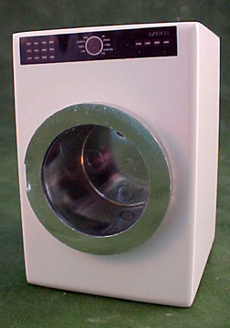 "1"" Scale White Modern Washer"
