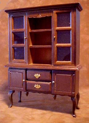 "1"" Scale Walnut Hutch"