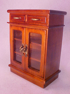 "1"" Scale Walnut Small Cabinet"
