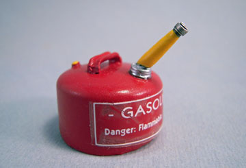 "Sir Thomas Thumb 1"" Scale Miniature Red Gas Can"