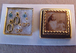 "1/2"" Scale Cheryl Warder Hand Crafted Photo Box with Tiny Earrings"