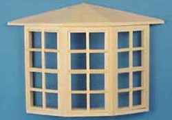"Houseworks 1/2"" Scale Bay Window"