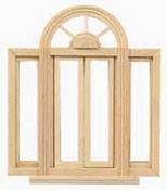 "Houseworks 1/2"" Scale Circlehead Double Casement Window"
