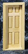 """Houseworks 1/2"""" Scale Interior Six Panel Door"""