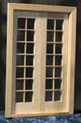 "Houseworks 1/2"" Scale Classic Double French Door"
