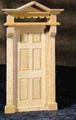 """Houseworks 1/2"""" Scale Exterior Victorian Door"""
