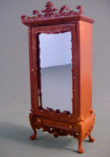 "1/2"" Scale Bespaq Walnut Fantasy Lyre Armoire"