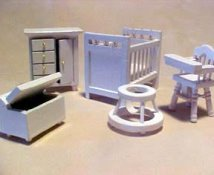 "Townsquare 1/2"" Scale Miniature Nursery Set"