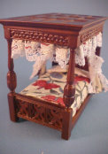 "1/2"" Scale Tudor Bed by John Baker"