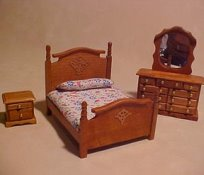 "1/2"" Scale 3 piece Bedroom Set"