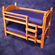 "Townsquare 1/2"" Scale Miniature Navy Blue  Bunk Bed"