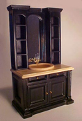 Townsquare Miniatures Black Bath Cabinet